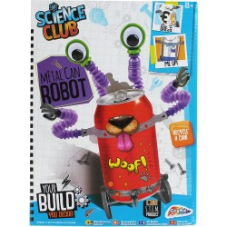 Science Club metal can robot